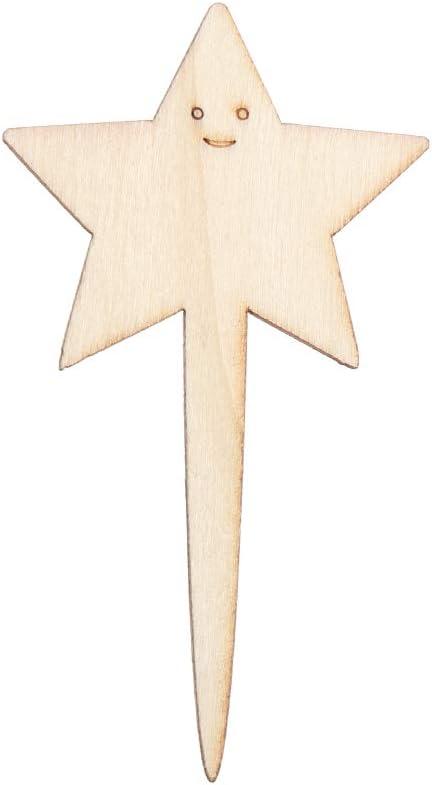 10 etichette per piante in bamb/ù etichette in legno per giardinaggio marcatori da giardino bonsai cervo ornamento per vasi