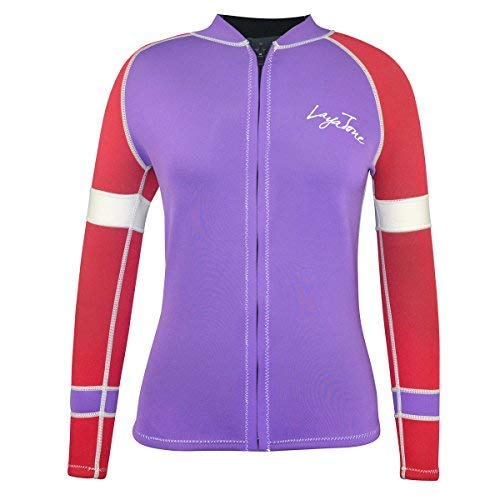 Layatone Wetsuit Top Women 3mm Neoprene Jacket Surf Scuba Diving Suit Front Zipper Canoeing Suit Wet Suit Jacket Women Lady by Layatone