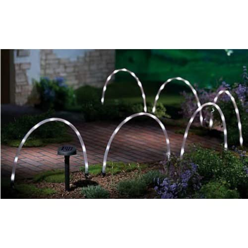 Garden Mile® 6x LED Solar Tube Stick Lights Solar Powered Rechargeable  Batteries Garden Lights Border