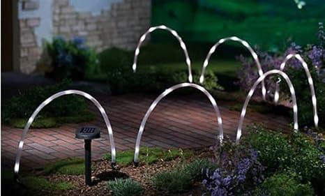 Garden mile led solare tubo bastone luci ad energia batterie