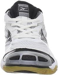 Mizuno Women\'s Wave Bolt Volleyball Shoe,White/Black,7 M US