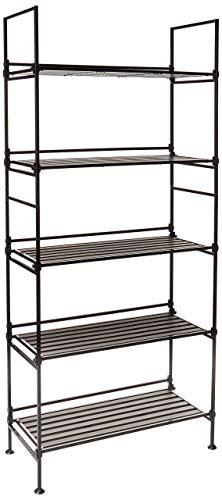 Neu Home Espresso 5 Tier Wide Free Standing Storage Shelf- No Tool Assembly