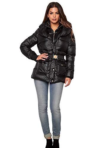 20 noir 10 matelasse veste Dames taille brillant Uk UK 24 18 mouill effet hiver femmes Grande 68SwqS