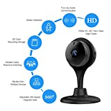 Wireless Security Camera, MiSafes Baby Pets Monitor 1080p HD Night Vision Remote Home Surveillance Smart IP cam Wi-Fi Cameras with 2-way Audio for iPhone iPad Samsung HTC LG Sony