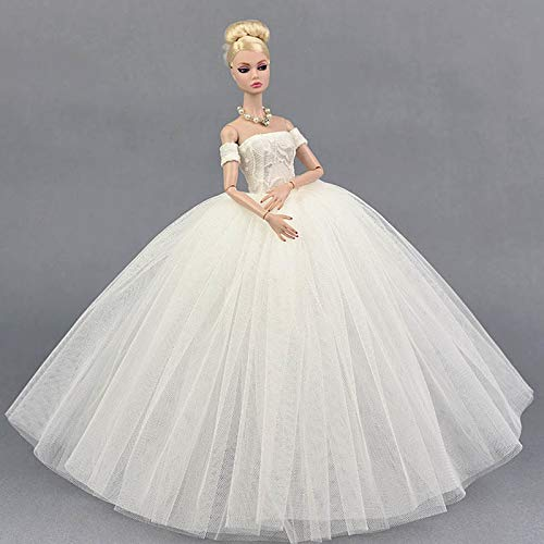 BANL Dolls Accessories - Doll Clothes for Barbie Princess Wedding Dress Noble Party Gown for Barbie Doll Fashion Design Outfit Best Gift for Girl' Doll 1 PCs -