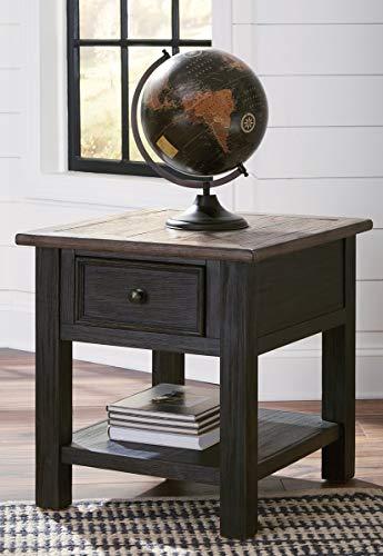 (Ashley Furniture Signature Design - Tyler Creek End Table with Drawer, Grayish Brown/Black)