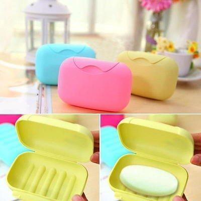 Home Cube� Travel Soap Box Case Holder (Set of 2 Pcs) - Assorted Colors