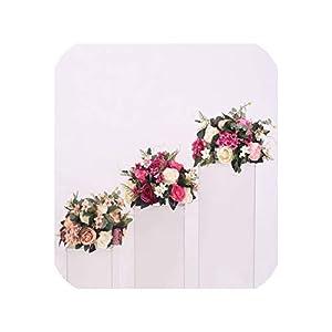 New DIY Wedding Table centrepieces Artificial Flower Ball Backdrop Wedding Decor Road Lead Wall Hotel Shop Party Silk Flowers 23