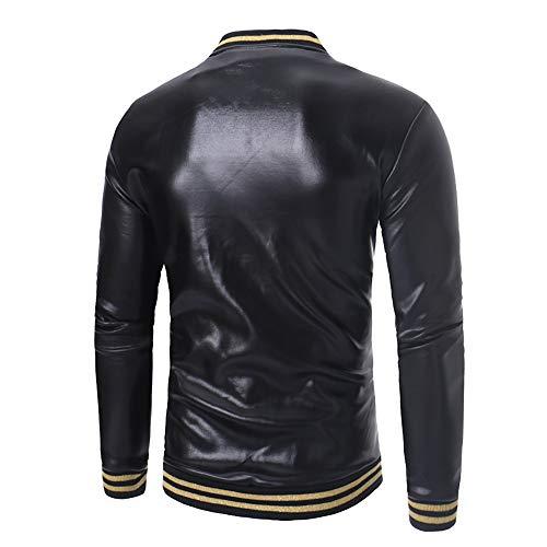 Costura Moda Top Abrigos Leather Mens Beladla Negro De Jacket Chaqueta Outerwear Hombre Cuero Para q8nRn7Zt