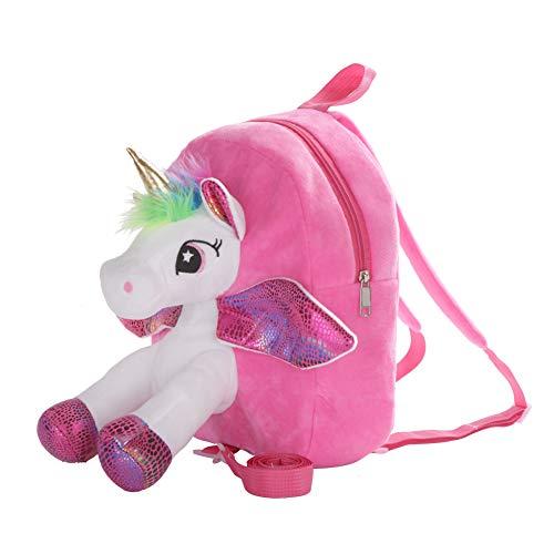 Toddler Backpack,Unicorn Gifts for Girls,Unicorn Bag,Birthday Gifts for Girls,Baby Shower Gifts,Baby Gifts Preschool Shoulder Bag for Newborn Girls,Toddler Kids 3D Toy Cute Plush Backbag