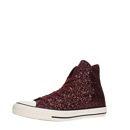 Converse All Star Hi Glitter - Zapatillas abotinadas Mujer burdeos