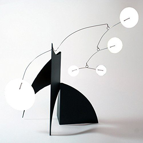 The Moderne Art Stabile in Black & White - a mobile you display on desktop, coffee table, or shelf - Inspired by Alexander Calder - Eames Midcentury Modern Style