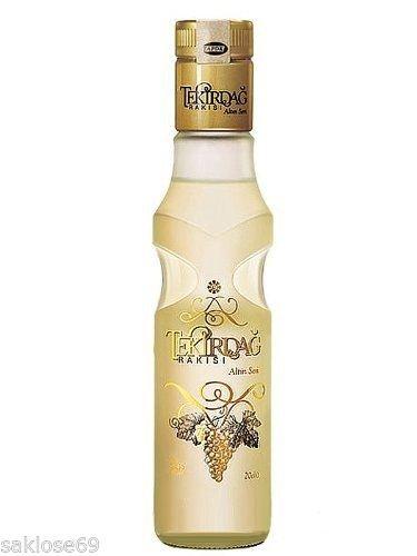 9 Flaschen Tekirdag Raki Türkei Gold a 0,2L 45% Vol. Kleinflasche