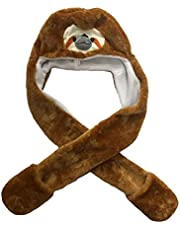 Animal Hood Hat for Kids and Adults One Size, Animal Hat with Mittens