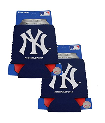 (Official Major League Baseball Fan Shop Authentic 2-Pack MLB Insulated 12 Oz Can Cooler (New York Yankees))