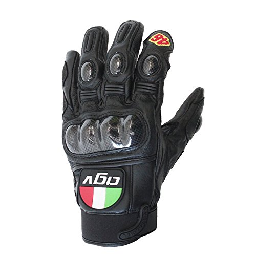 ZAHNG 2018 New Hot Motorcycle Gloves MOTO GP Agv VR46 Rossi Gloves Comfortable Leather Gloves