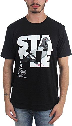 Staple - Mens Definition Pigeon T-Shirt, Size: Medium, Color: Black
