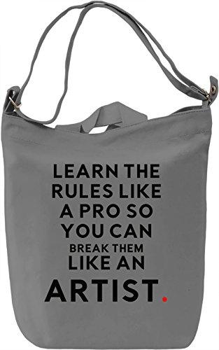 Like an Artist Borsa Giornaliera Canvas Canvas Day Bag| 100% Premium Cotton Canvas| DTG Printing|