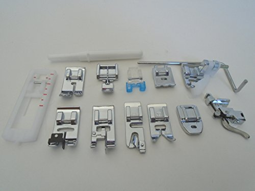 NGOSEW Low Shank Presser Foot Feet Kit Set Singer Simple 3116,2263,3221,3223,3232,3337,3229