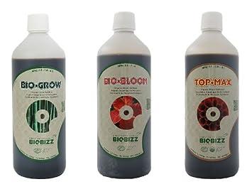 BioBizz - Bio Grow - Bio Bloom - parte superior Max - 1L de cada ...