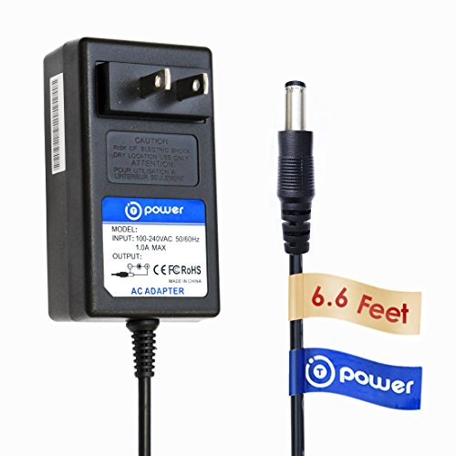 T-Power 12v ((6.6ft Long Cable)) for Crosley Radio CR49 CR49-BT CR49-TA CR249 CR249-TA CR32CD CR6233A CR6233A-RE CR7002A CR7002A-PA Tech Turntable Record Player I.T.E switching power supply cord