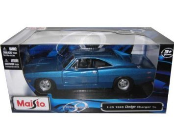 1969 Dodge Charger R/T Blue 1:25 Diecast Model Car 25 1969 Dodge Charger