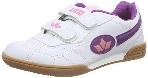 Lico Bernie V, Unisex-Kinder Hallenschuhe, Weiß (lila), 34 EU