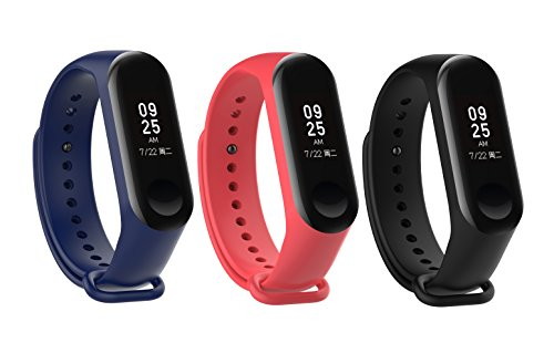 DingTool Xiaomi Mi Band 3 Bands, Replacement Wristband Strap Accessories Xiaomi Mi Band 3 Smart Watch Bracelet (color5)