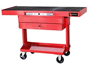 Excel TSC3201-Red 50-Inch Steel Work Station, Red