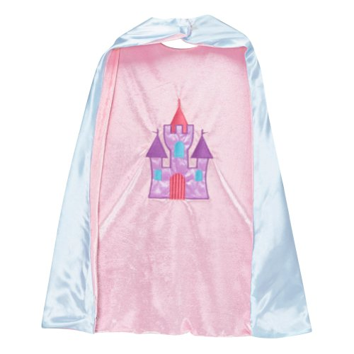 Storybook Wishes Reversible Princess Carriage & Castle Design Cape (Girls Jewel Princess Costume)