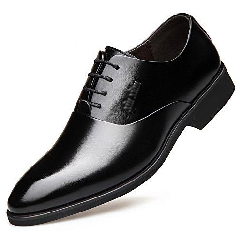 Scarpe da Uomo Classiche da Uomo Primavera Affari Formali Scarpe da Uniforme Casuali Stringate da Lavoro Traspirante Scarpe da Sposa Antiscivolo Black