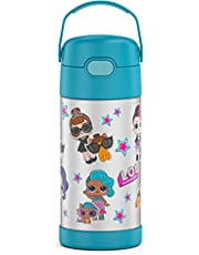 THERMOS FUNTAINER 12 Ounce Stainless Steel Vacuum Insulated Kids Straw Bottle, L.O.L Surprise