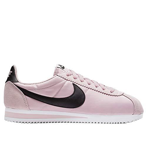 Nike Women's Classic Cortex Nylon Running Shoes (8 M US, Plum Chalk/Black/White)
