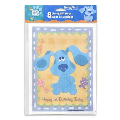 Blue's Clues 1st Birthday Loot Bags 8ct by Hallmark (Blues Bags Clues Treat)