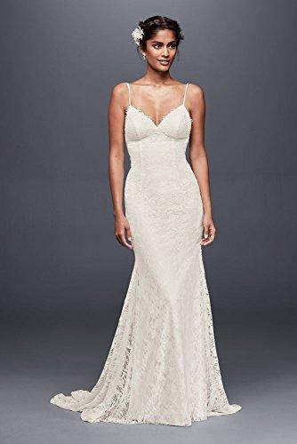 (Soft Lace Wedding Dress with Low Back Style WG3827, Ivory, 22W)