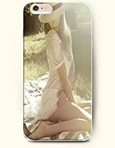 Girl Seating On The Grass - Sexy Girl - Phone Cover for iPhone 6 Plus ( 5.5 inches ) - Authentic iPhone Case