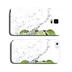 Limes with water splash cell phone cover case Samsung S6