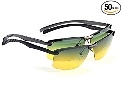 f6620ba8b4 Sport Polarized UV400 Sunglasses Night Vision Driving Glasses Aviator  Eyewear (Black)