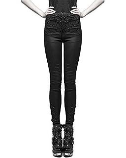 Punk Rave Womens Pantalon Pantalon Noir Victorien Gothique Steampunk Vintage  Aristocrate f226fae101cd