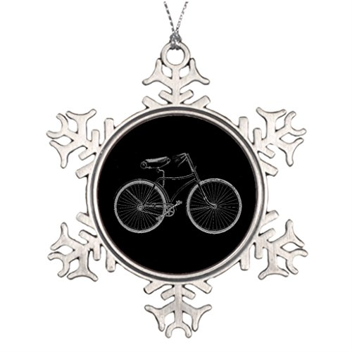 (Ideas For Decorating Christmas Trees Nostalgia Vintage Bike Old Fashioned Bicycle Cycling Christmas In Heaven Snowflake)