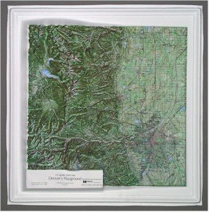aised Relief Map K-DR2121 Denver s Playground (Colorado Raised Relief Map)