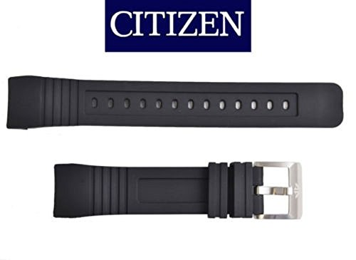 Citizen 59-S53297 Original Replacement Black Rubber Watch Band Strap fits BJ2128-05E S086680 ()