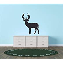 Top Selling Decals - Prices Reduced : Deer Stalk Hunting Season Animal Shooting Outdoor Sports White Tail Mule Blacktail Moose Elk Tree Stand Wall Sticker Size: 20 Inches x 20 Inches - 22 Colors Available