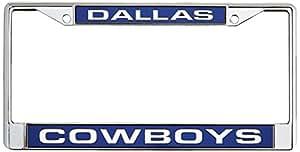 Desconocido Marco de Placa de Cromo NFL, Unisex Adulto, FCL1801, Dallas Cowboys, Talla única