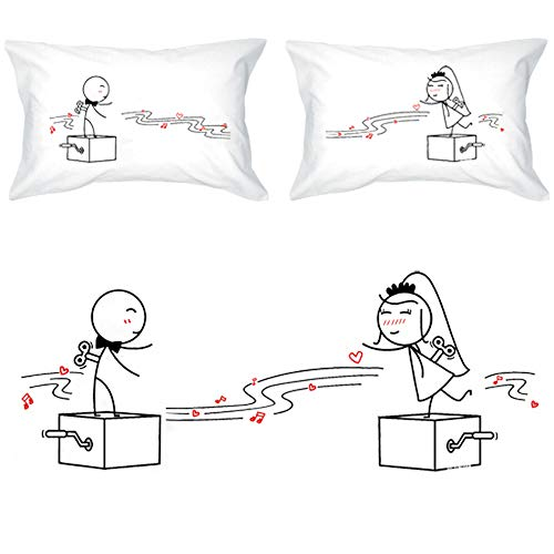 Stick Figure Wedding - BoldLoft Endless Love Wedding Pillowcases Gifts for Bride and Groom-Wedding Gifts for Couple Parents Wedding Shower Gifts Wedding Bachelorette Gifts Engagement Gifts for Him and Her