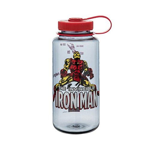 Nalgene Tritan 32oz MARVEL Water Bottle (Iron Man In Action),32 Ounces