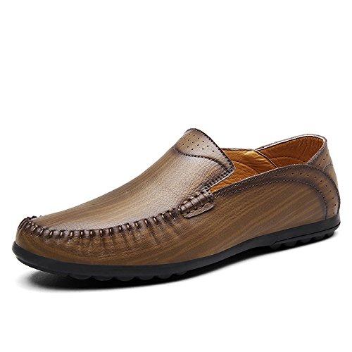 zmlsc Hommes Printemps Et Automne Chaussures Décontractées Chaussures D'affaires Été Hiver Ceinture Jin Coulissant Sand Vache Cowgirl Kaki ORfWpMliG