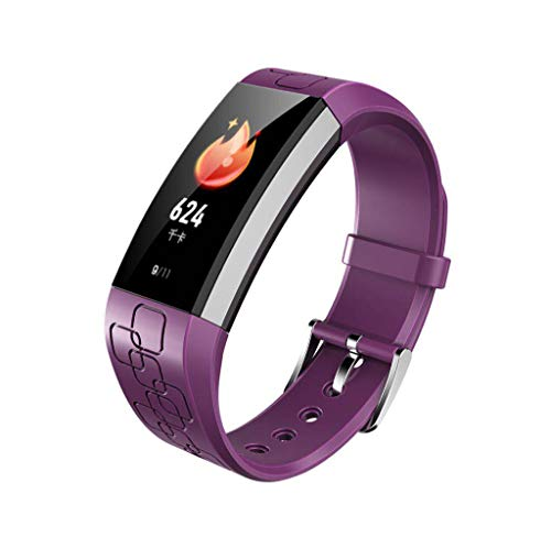 for iOS Android, Sport Smart Bracelet, Fitness Activity Heart Rate Tracker Blood Pressure Bluetooth Smart Watch (Purple) ()