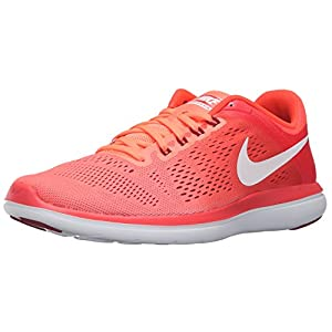 NIKE Women's Flex 2016 RN Running Shoe, Bright Mango, 9.5 B(M) US