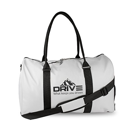 Drive Sports Gym Bag w/Shoe Compartment Travel Duffel Bag for Men & Women (Grey)